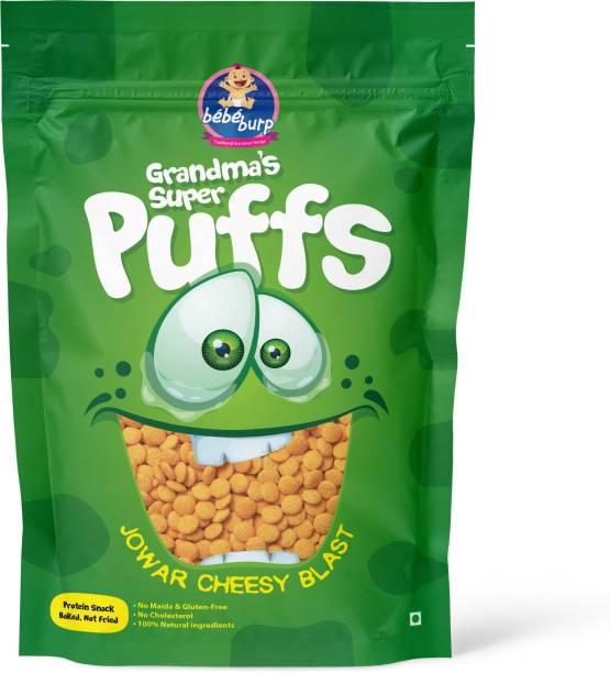 bebe burp GRANDMA'S SUPER PUFFS JOWAR CHEESY BLAST (PACK OF 4) Baby Puffs 200 g
