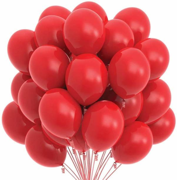 Eos Solid Solid Metallic Red balloons Balloon