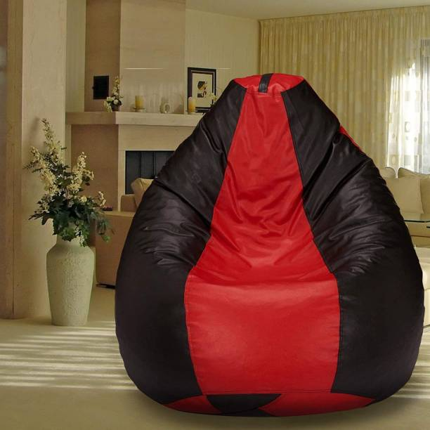 SHIRA 24 XXXL Tear Drop Bean Bag Cover  (Without Beans)