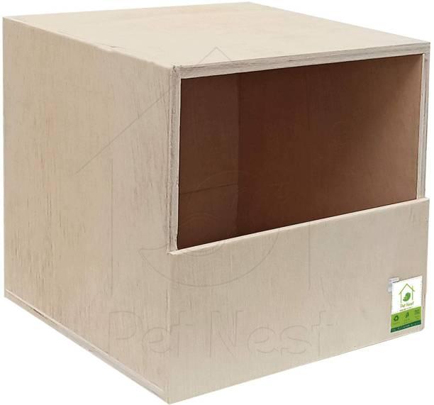 PetNest Bird Breeding House Nest Box for Pigeon House, Hornbill-Parrot-Greater Coucal-Laughing Dove-Kingfisher Garden Birds House 11x11 Inches Best Gift for Kids (Light Brown/Wood Colour) Bird House