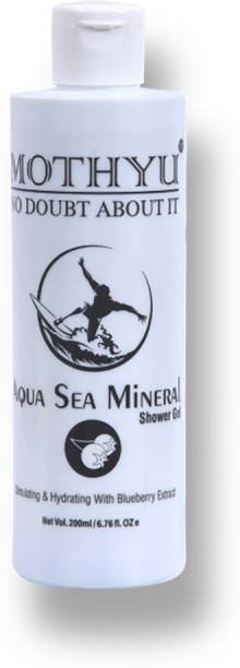 MOTHYU Natural Aqua Sea Mineral Shower Gel With Blueberry - For Face & Body Wash