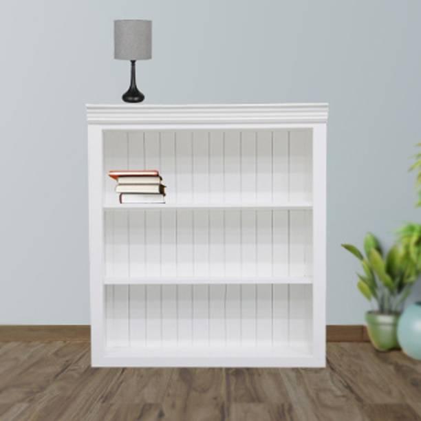 TimberTaste TT-ISA-BS-PN Engineered Wood Open Book Shelf