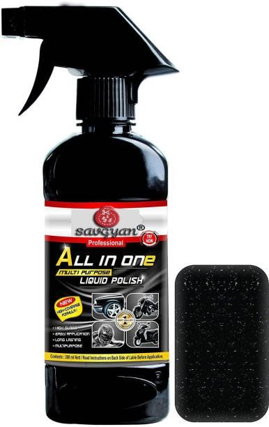 Savgyan Liquid Car Polish for Leather, Tyres, Dashboard, Metal Parts, Headlight