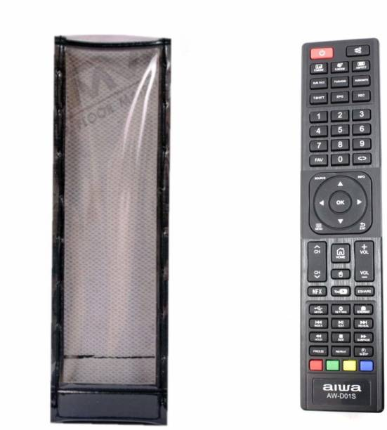 LUNAGARIYA Flip Cover for Protective Cover for AIWA Smart led/LCD tv Remote Control, PU Leather Cover Holder