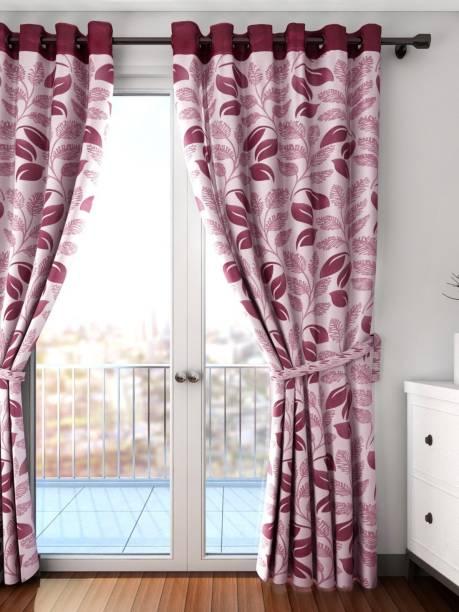 Cortina 270 cm (9 ft) Polyester Long Door Curtain Single Curtain