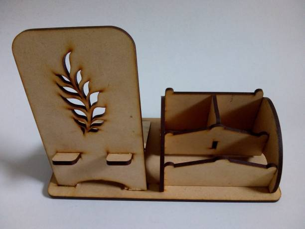 CB 3 Compartments MDF Wooden Mobile Holder