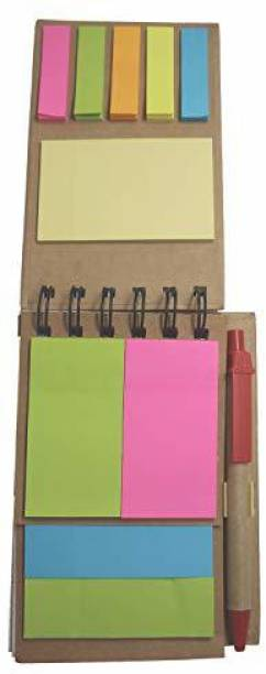 DALUCI Memo Pads Note Book with Sticky Notes with Pen for Gifting Regular Memo Pad Spiral Bound 50 Pages