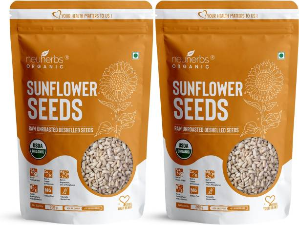 Neuherbs Raw Sunflower Seeds for Eating, Rich in Protein and Fiber
