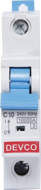 DEVCO 1-Pole 10-Amp (C-Curve 10kA) MCB(1) MCB10100C MCB