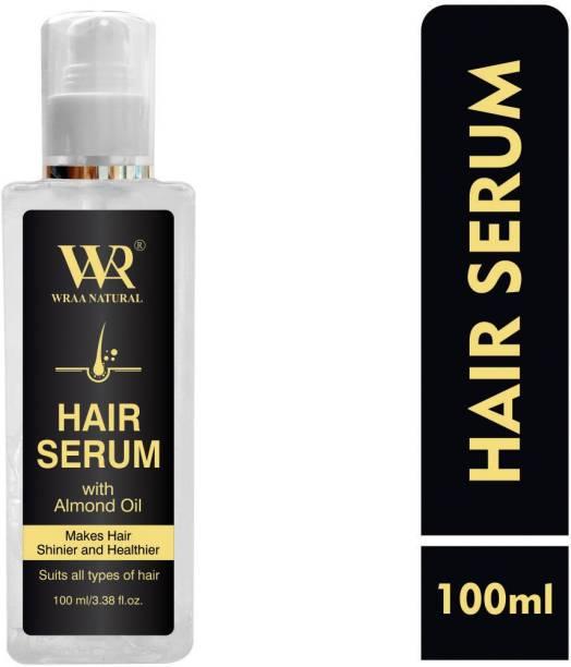 Wraa Natural Professional & Premium Hair Serum with Almond Oil, Argon Oil for Shiny Hair & Hair Growth