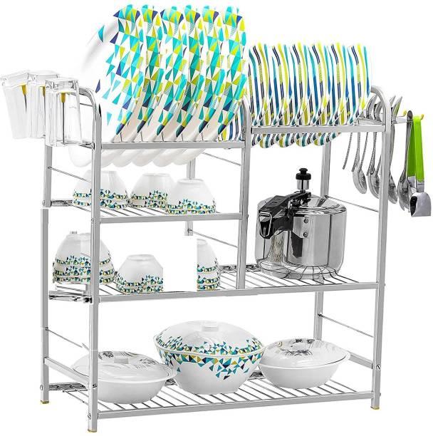 Daaduji Creations / 24 Inch 4 Layer Wall Mount Kitchen Dish Rack Plate Cutlery Stand/Kitchen Utensils Rack/Modern Kitchen Storage Rack/Dish Rack/ 24 x 24 Made In India Utensil Kitchen Rack