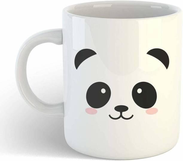 "CHHAAP ""Cute Panda"" Printed Ceramic White Coffee Ceramic Coffee Mug"