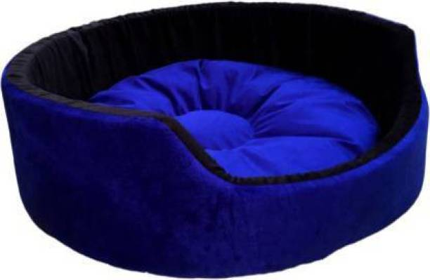 Slatters Be Royal Store Round Shape Reversable Ultra Soft Ethnic Designer Velvet Bed for Dog & Cat (Export Quality) S Pet Bed