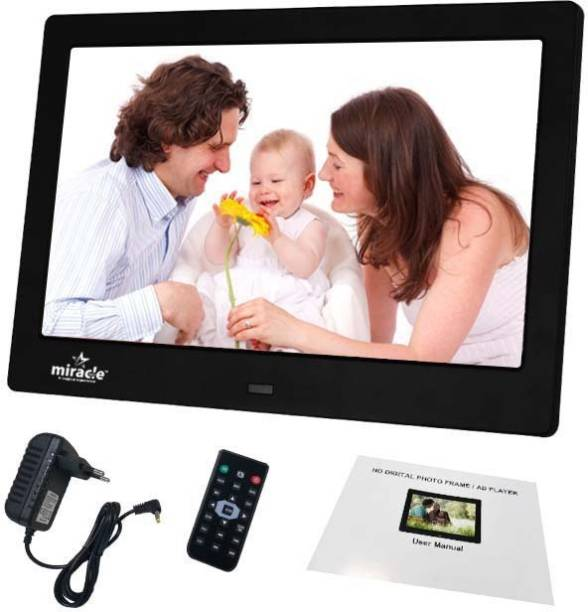Miracle Digital 10inch Multi-Functional Digtal Media Photo Frame with LED Blacklight, Supports SD/MMC, USB DIsk Card/AUX/DC 10 inch LCD
