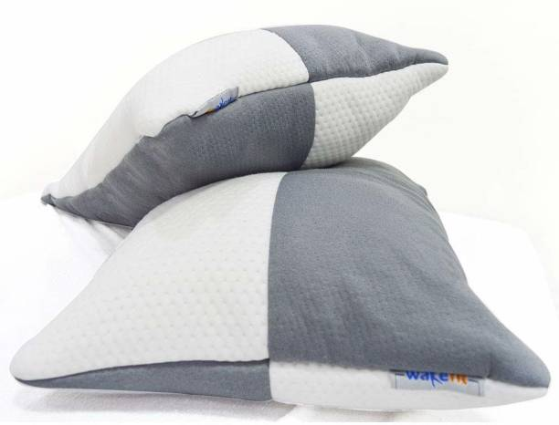Wakefit Polyester Fibre Solid Sleeping Pillow Pack of 2
