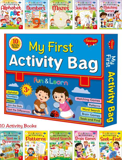 My First Activity Bag   Fun & Learn Activities Alphabet, Fun & Learn Activities Matching Games, Fun & Learn Activities Numbers, Fun & Learn Activities Spot The Differences, Fun & Learn Activities Mazes, Fun & Learn Activities Word Search, Fun & Learn Activities Patterns, Fun & Learn Activities Brain Games, Fun & Learn Activities Join The Dots And Fun & Learn Activities Seek And Find