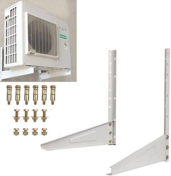 TOPREDO 100% High quality Metal Wall Mounted Heavy Duty Air Conditioner Outdoor Unit Mounting Brackets Ac out door stand 500mm x 160mm Shelf Bracket 0.8 Ton to 2.0 Ton Shelf Bracket