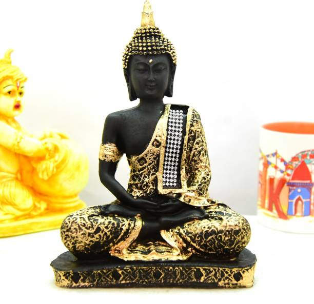 Royalbox Sitting Buddha Idol Statue Showpiece for Home Decoration and Gifting Decorative Showpiece  -  22 cm