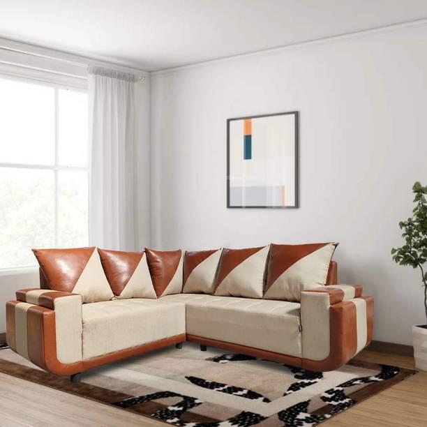 ELTOP Berger Corner L-Shape Fabric 5 Seater  Sofa