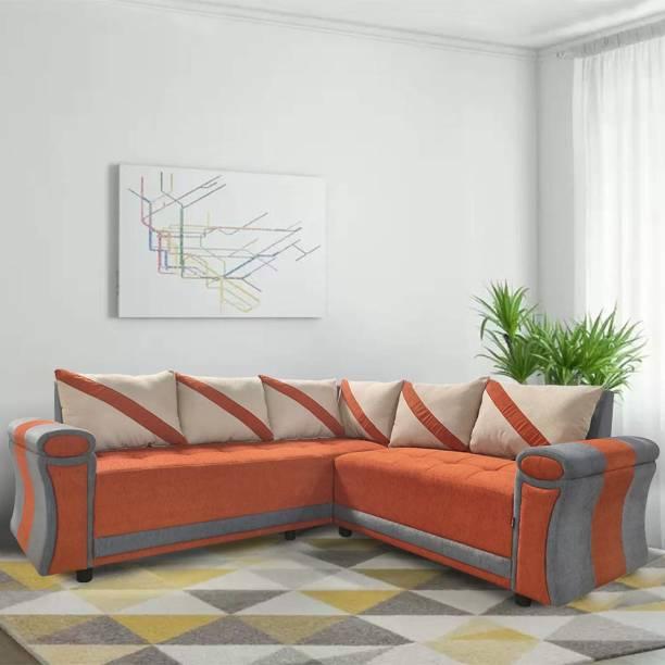 ELTOP Lifestyle L-Shape Fabric 5 Seater  Sofa