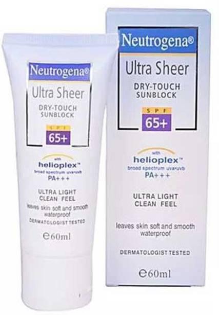 NEUTROGENA Ultra sheer Dry touch Sun block 65 + SPF 60ml Made in US - SPF 65 PA+++