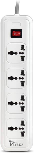 Syska QuadraPro- 4 Way Power Strip 4  Socket Extension Boards