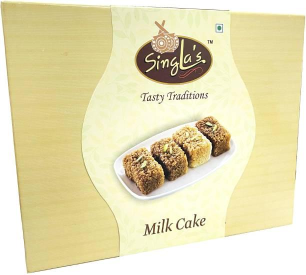 Singla Sweets Milk Cake Barfi 400g Sweet Delicious Box