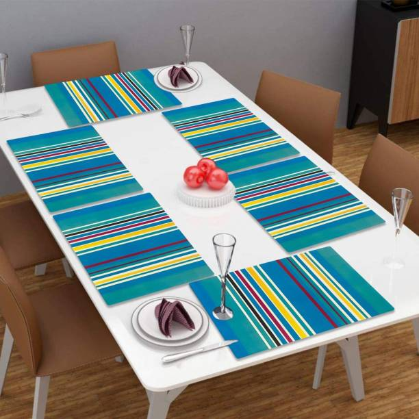 LooMantha Rectangular Pack of 6 Table Placemat