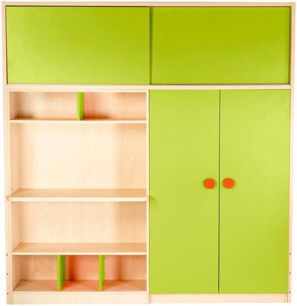 Yipi Optima Storage Supreme Wardrobe And Study Table in Green by YiPi Engineered Wood 2 Door Wardrobe