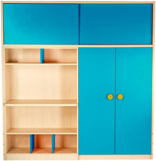 Yipi Optima Storage Supreme Wardrobe And Study Table in SkyBlue by YiPi Engineered Wood 2 Door Wardrobe