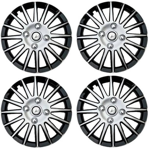 Ubom Dual Color Silver Black 15-inch Tyre Sport Rim cover Wheel Cover Wheel Cover For Maruti SX4