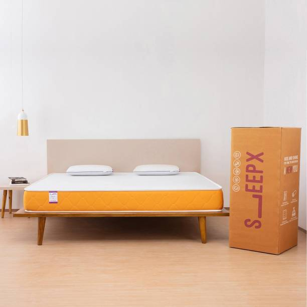 SleepX Dual Medium Soft & Hard 6 inch Queen High Density (HD) Foam Mattress