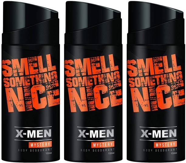 X-Men Smell Something Nice Mystery Deodorant Spray - For Men 150ml (Pack of 3) Deodorant Spray  -  For Men & Women