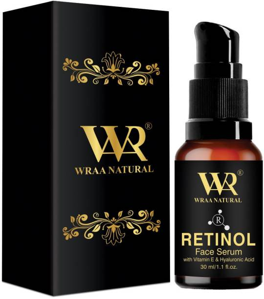 Wraa Natural Retinol Face Serum With 21.5 % Vitamin C , Anti-Ageing Properties, Fine Line Repair For All Skin Types, Clearer & Brighter Skin (30 Ml)
