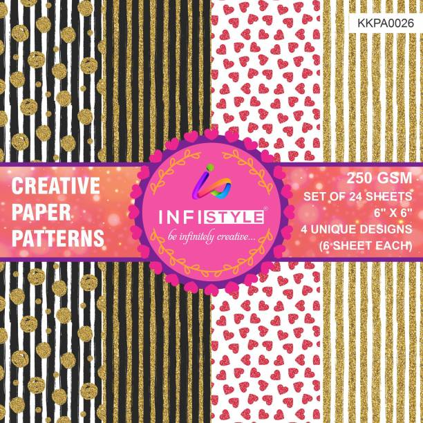 INFISTYLE INFISTYLE_KKPA026_PAPERPATTERN Heart CARDSTOCK Gift Wrapper