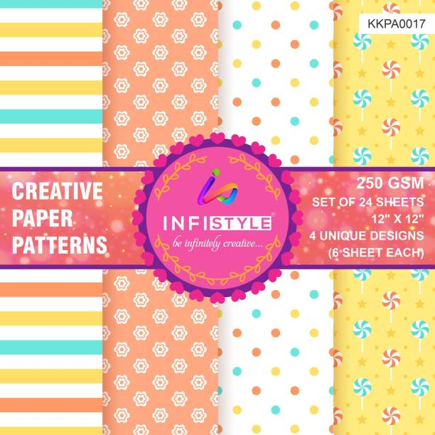 INFISTYLE INFTYLE_KKPA017_PAPERPATTERN Heart CARDSTOCK Gift Wrapper