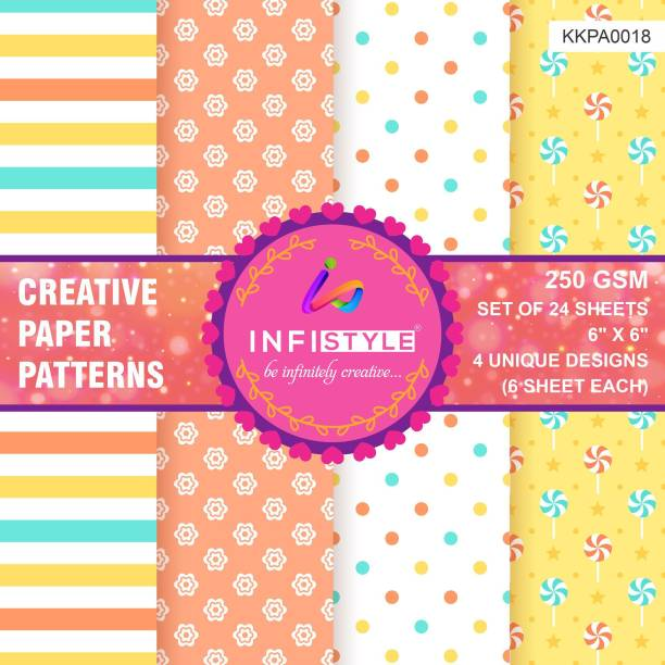 INFISTYLE INFTYLE_KKPA018_PAPERPATTERN Heart CARDSTOCK Gift Wrapper