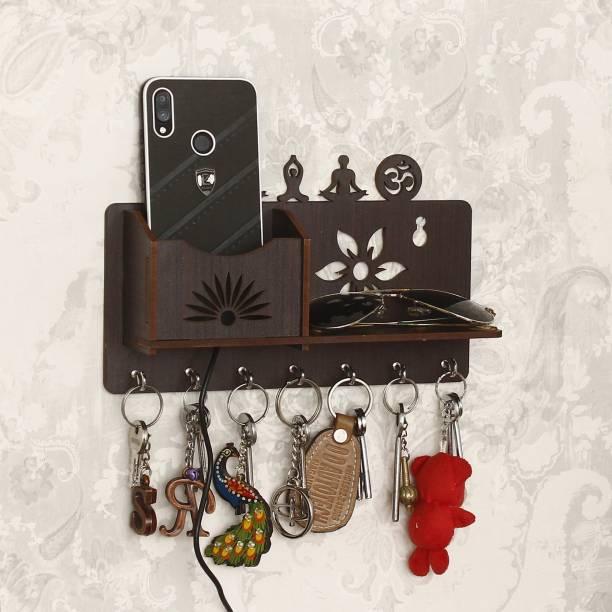 CAPIO ART Yoga Mudra with Mobile Stand Wood Key Holder