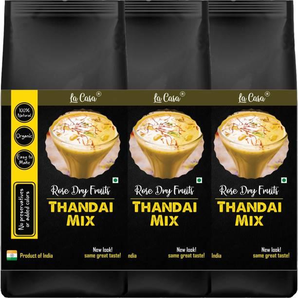 La Casa Rose Dry Fruits Thandai Mix | Combo Pack of 3 | Contains Almonds, Pistas, Elaichi & Rose Petals |