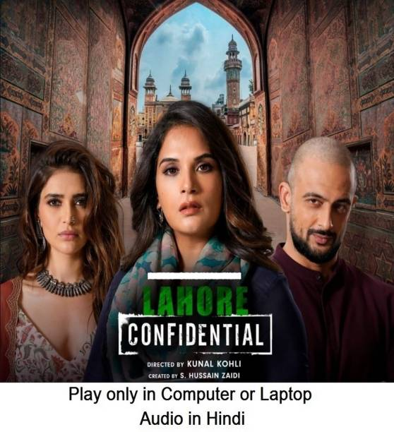 Lahore Confidential (2021) in Hindi it's DURN DATA DVD play only in computer or laptop it's not original without poster HD print quality