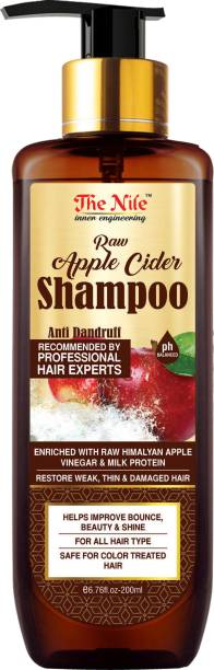The Nile Raw Apple Cider Shampoo enriched with Milk Protein- No Parabens & Sulphate, 200 ML