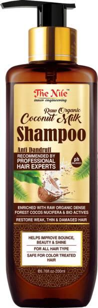 The Nile Raw Organic Coconut milk shampoo - Free from SLS And PLS -200 ML