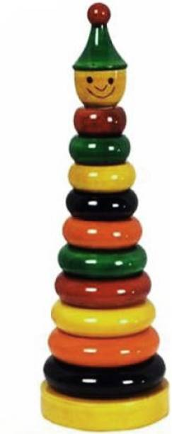 QWICK CLICK Handmade Eco Friendly Wooden Piece Color Multicolor Ring Set, For Toddlers Montessori Play Set For Girls & Boys Show Pieces