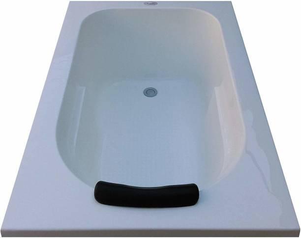 MADONNA 6 Feet Rectangular Acrylic Bathtub for Adults (with Headrest) - White Acrylic 6 feet Rectangular Bathtub - White Undermount Bathtub