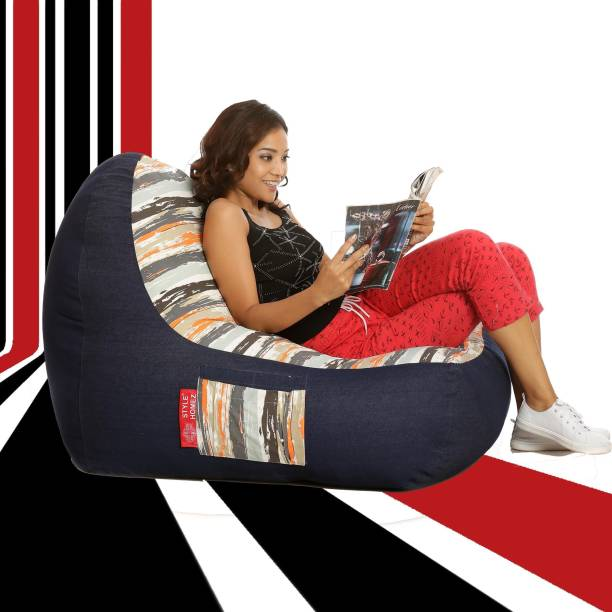 STYLE HOMEZ XXL Chair Bean Bag Cover  (Without Beans)