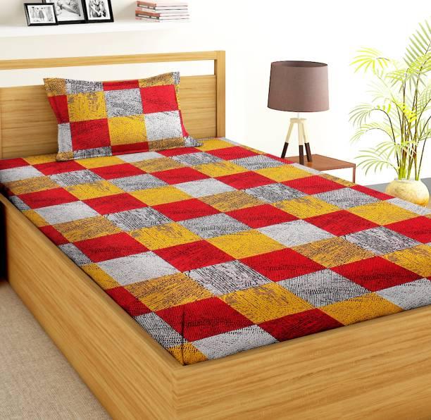 VAS COLLECTIONS 144 TC Microfiber Single Abstract Bedsheet