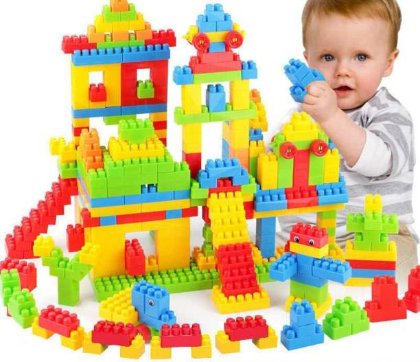 BOZICA New arrival Building Block Set Multicolor Blocks for Toddlers and Kids, Building Block for Boys and Girls ,100 Pieces, 20+ Activities