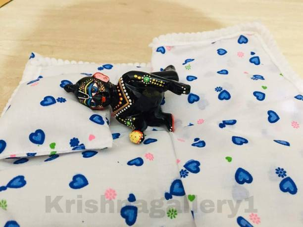 krishnagallery1 Laddu Gopal Bed Cotton Bistar 0 To 5 no Size Super Soft Good Quality Laddu Gopal dress Bistar , laddu Gopal Dress Wooden Pooja Chowki
