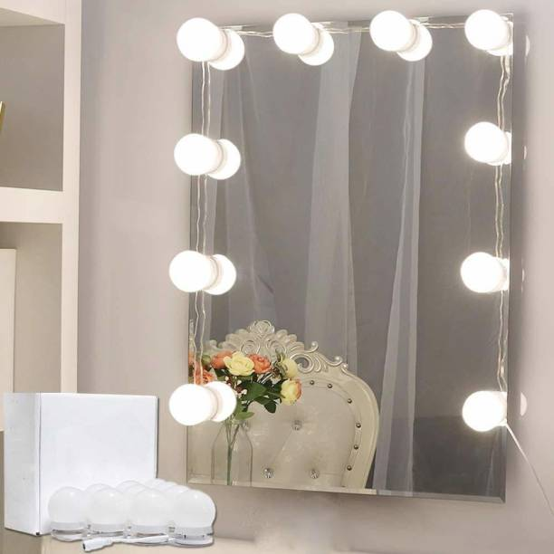 Auslese Makeup Mirror Dimmable usb LED Bulb Set of 10 Bulbs Lights for LED Vanity Mirror with 3 Colour Modes & 10 Adjustable Brightness With Easy Installation