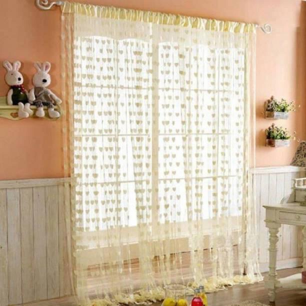 Roomesssentials 183 cm (6 ft) Tissue Window Curtain Single Curtain